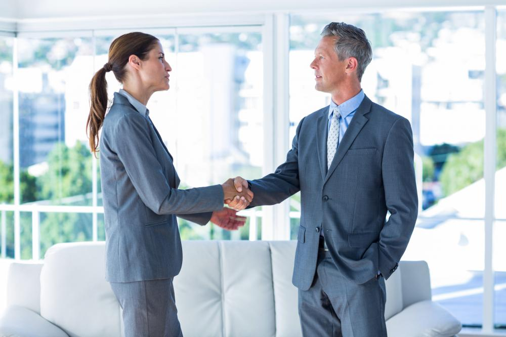 Two Business Workers Shake Hands1
